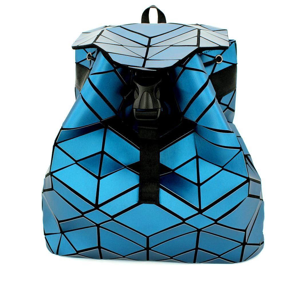 Геометрический неоновый рюкзак Синий Карбон