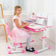 Ортопедическая парта для детей Lott S80 розовая