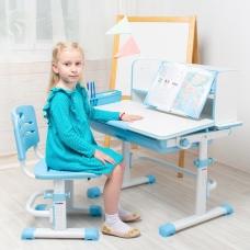 Ортопедическая парта для детей Lott S80 голубая
