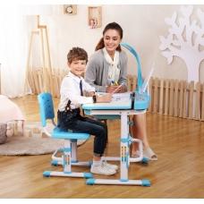 Ортопедическая парта для детей Кидди А7 голубая