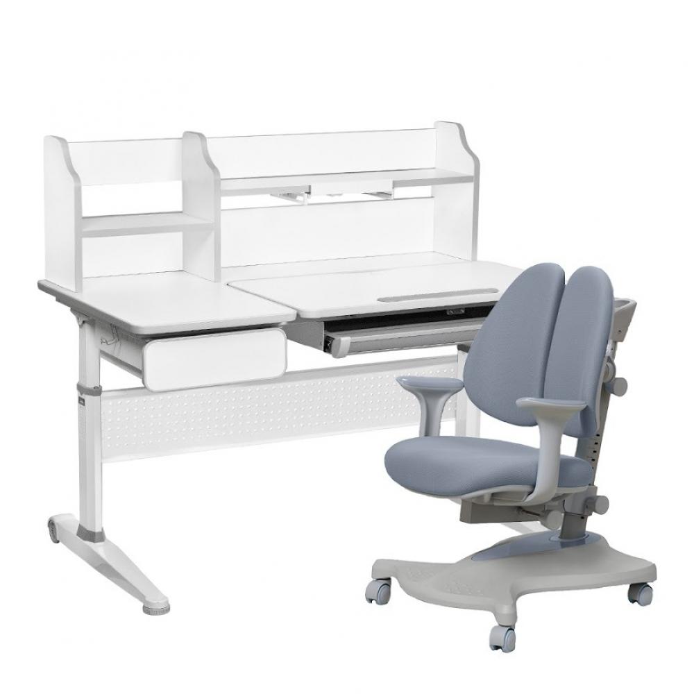 Комплект парта и кресло серый Abelia и Bellis Cubby