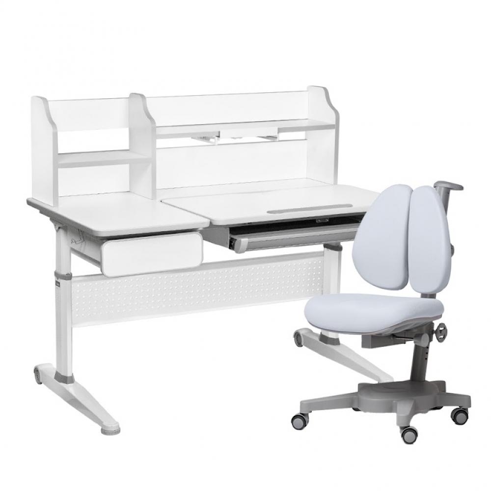 Комплект парта и кресло серый Abelia и Brassica Cubby