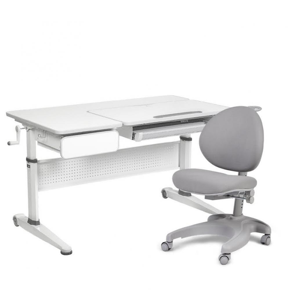 Комплект парта и кресло серый Aster Cubby и Cielo Fundesk