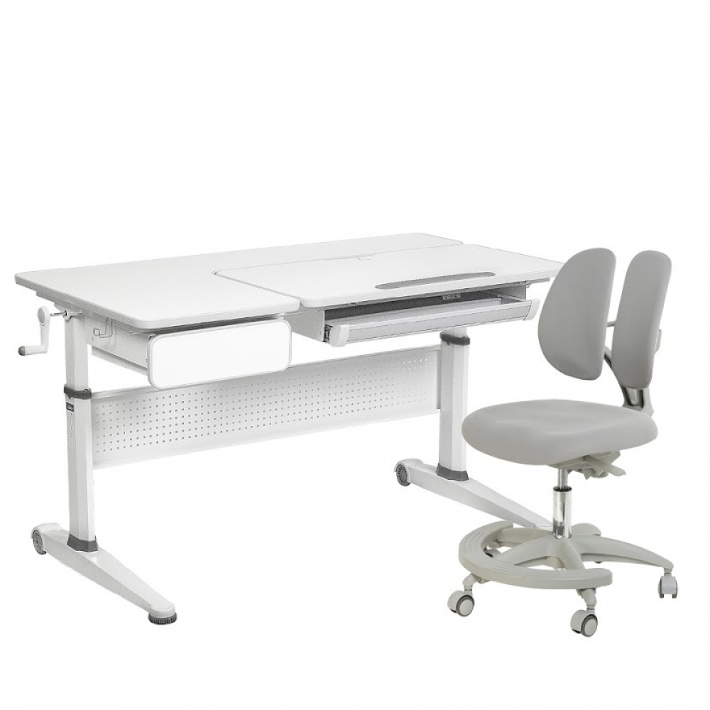 Комплект парта и кресло серый Aster Cubby и Primo Fundesk