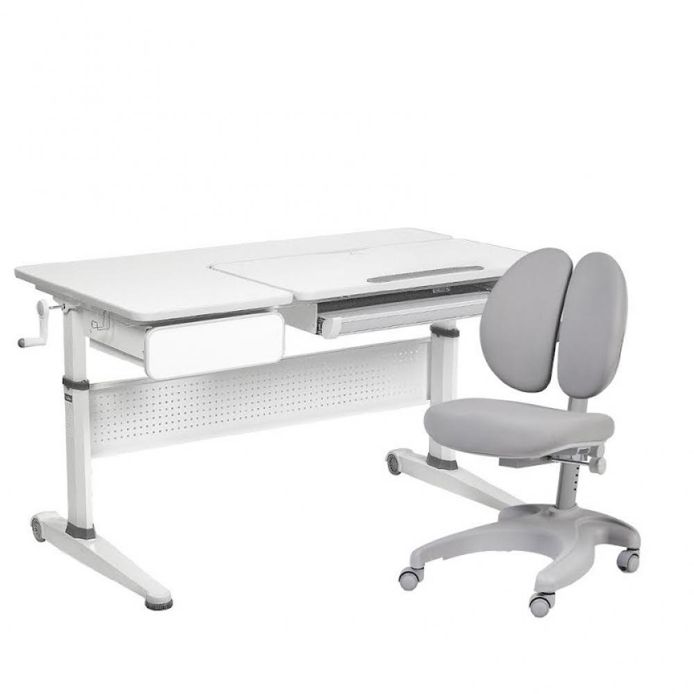 Комплект парта и кресло серый Aster Cubby и Solerte Fundesk