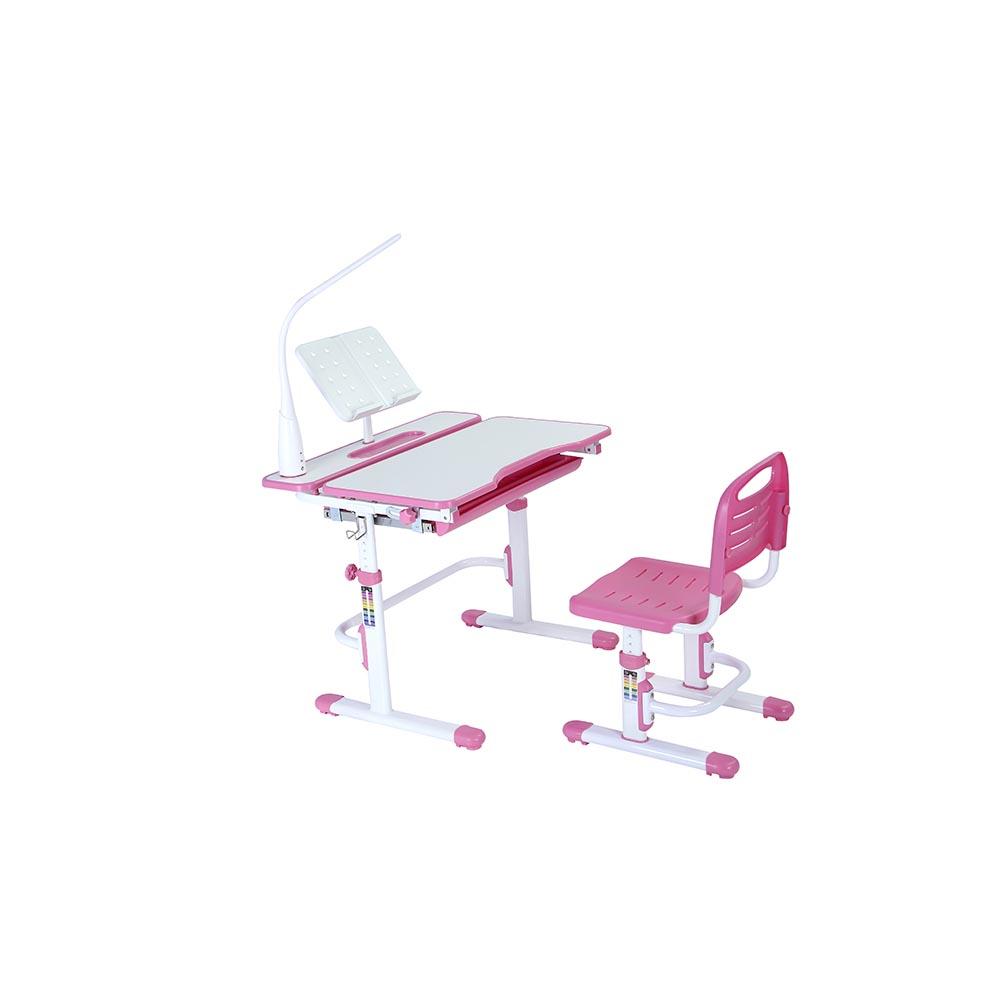 Комплект парта и стул розовый Botero Cubby