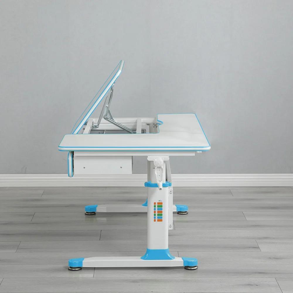 Комплект парта голубая Brunia Cubby и кресло серое Solerte Fundesk