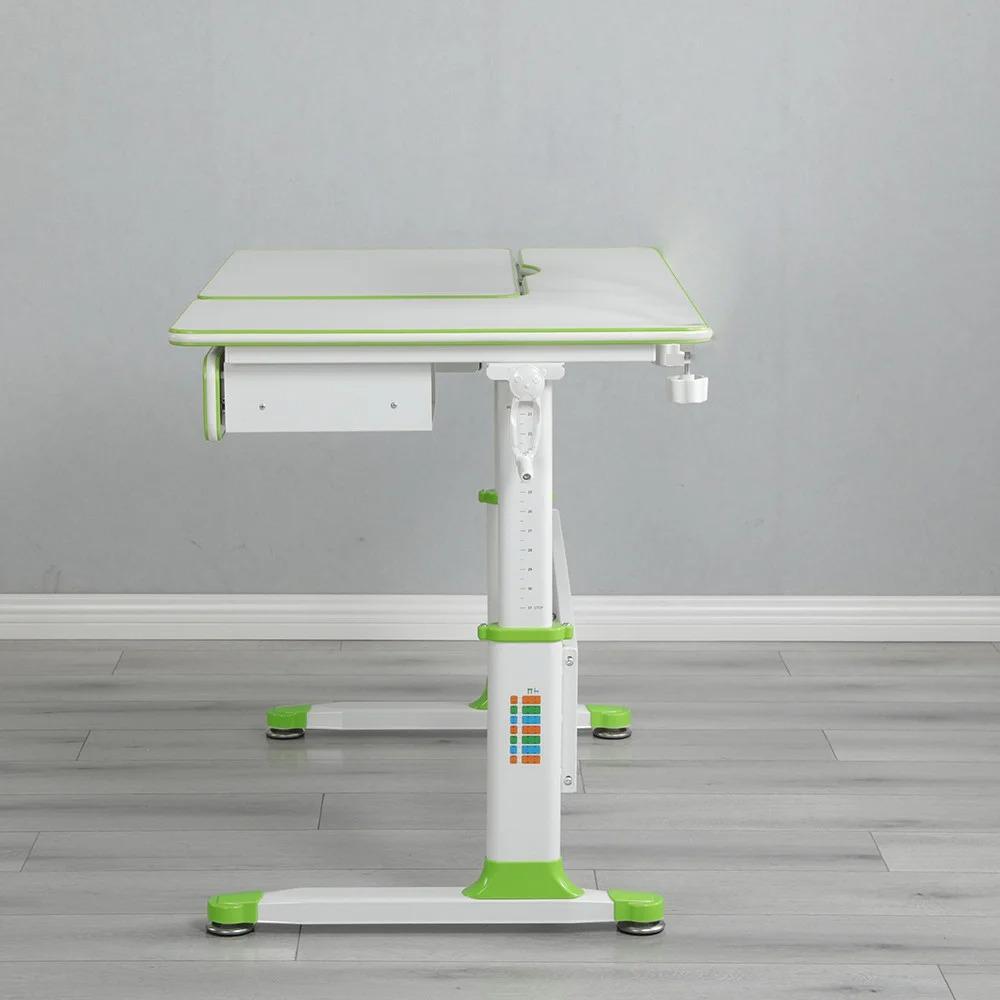 Комплект парта зеленая Brunia Cubby и кресло серое Solerte Fundesk