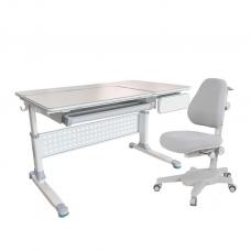 Комплект парта и кресло серое Brunia и Solidago Cubby