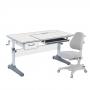 Комплект парта и кресло серый Imparare и Solidago Cubby