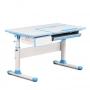 Комплект парта Toru Cubby голубая и кресло серое Primo Fundesk