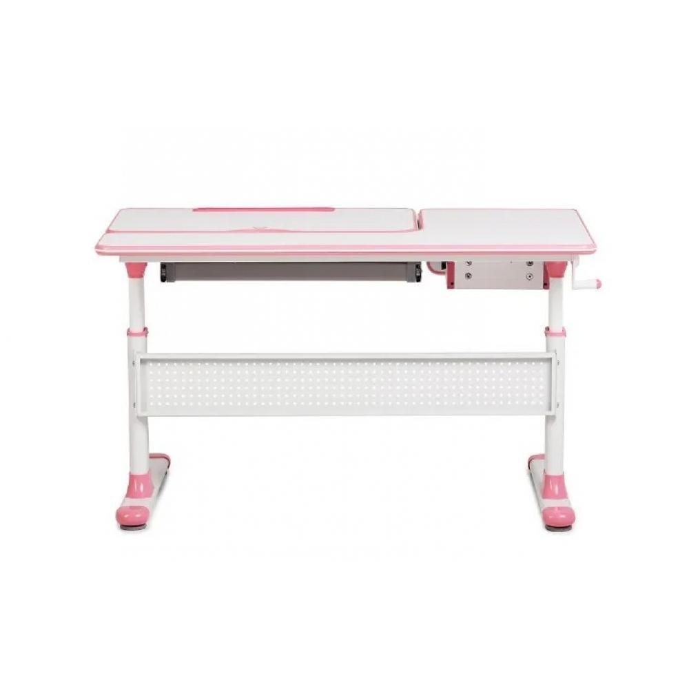 Комплект парта Toru Cubby розовая и кресло серое Primo Fundesk
