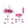 Комплект парта и стул розовый Vanda Cubby