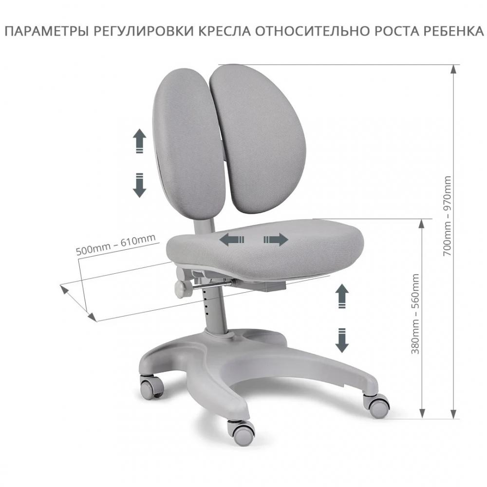 Комплект парта и кресло серый Abelia Cubby и Solerte Fundesk