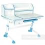 Комплект парта голубая Amare II и кресло серое Vetta Fundesk