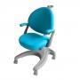 Детское кресло Cielo Fundesk с фиксированным подлокотником и голубым чехлом