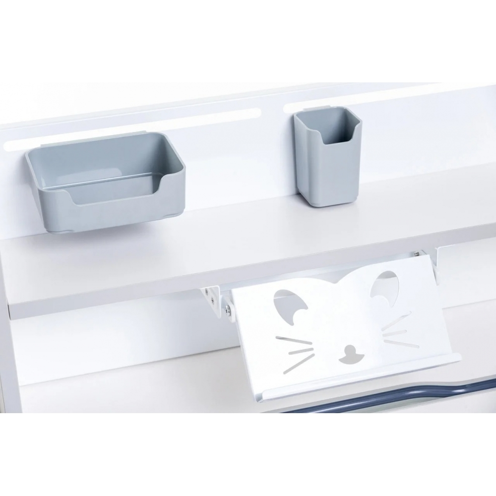 Комплект парта и кресло серый Libro и Solerte Fundesk