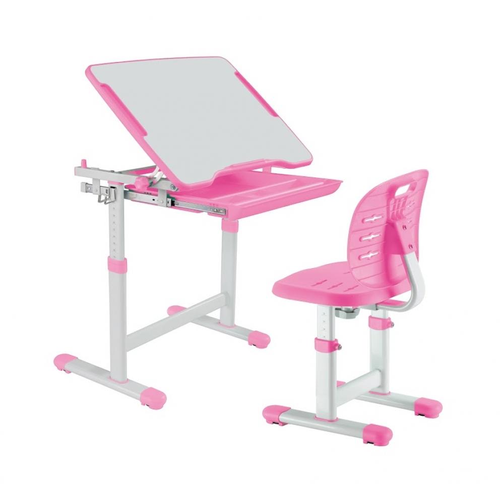 Комплект парта и стул розовый Piccolino III Fundesk