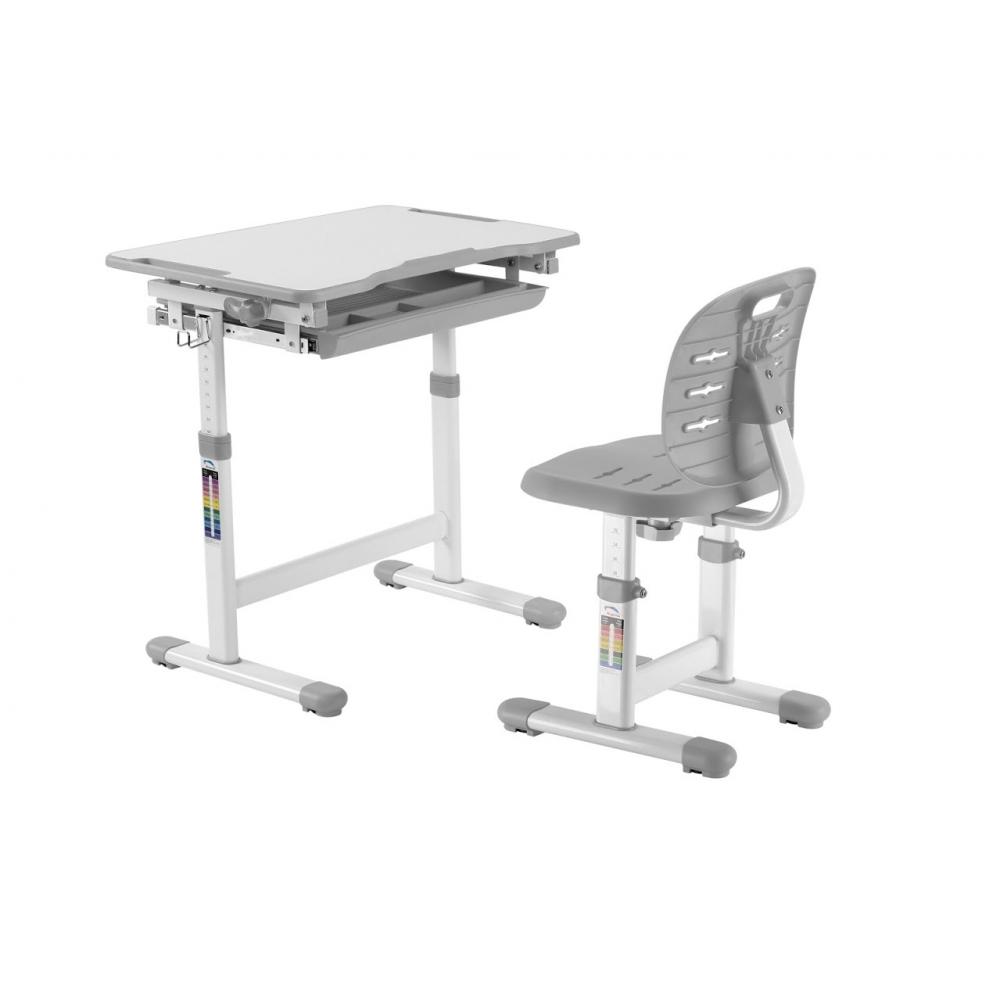 Комплект парта и стул серый Piccolino III Fundesk