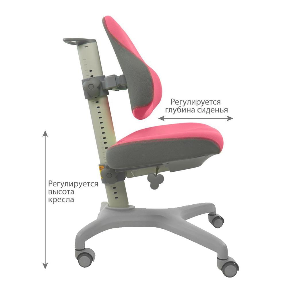 Детское кресло розовое Holto-3D