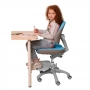 Детское кресло голубое Holto-4F