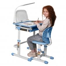 Ортопедическая парта для школьника Set-12 Holto голубой