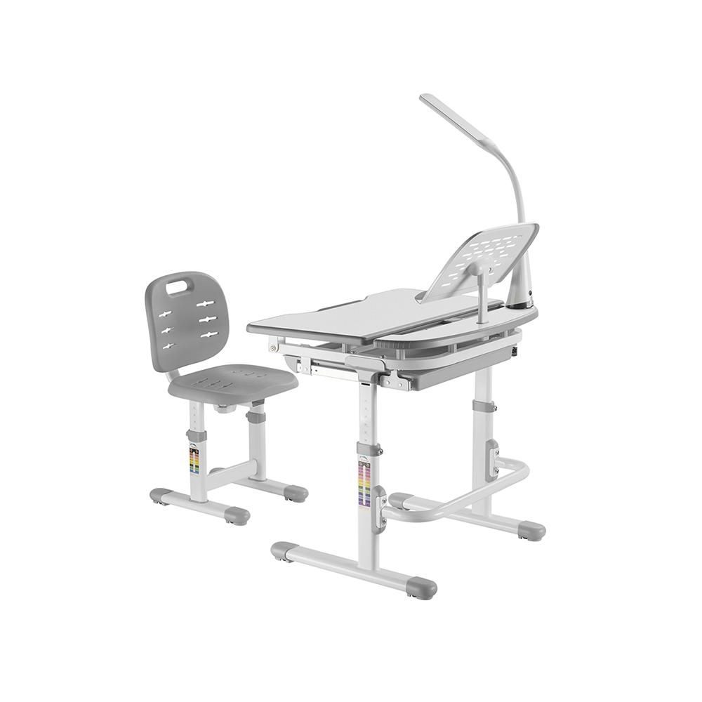 Комплект парта и стул серый Set-12 Holto