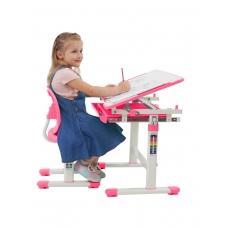 Ортопедическая парта для школьника Set-2 Holto розовый