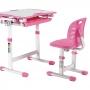 Комплект парта и стул розовый Set-2 Holto