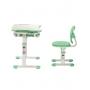 Комплект парта и стул зеленый Set-2 Holto