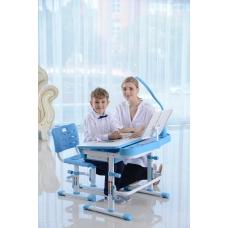 Стол для школьника трансформер Кантор LOTT MS80L голубой