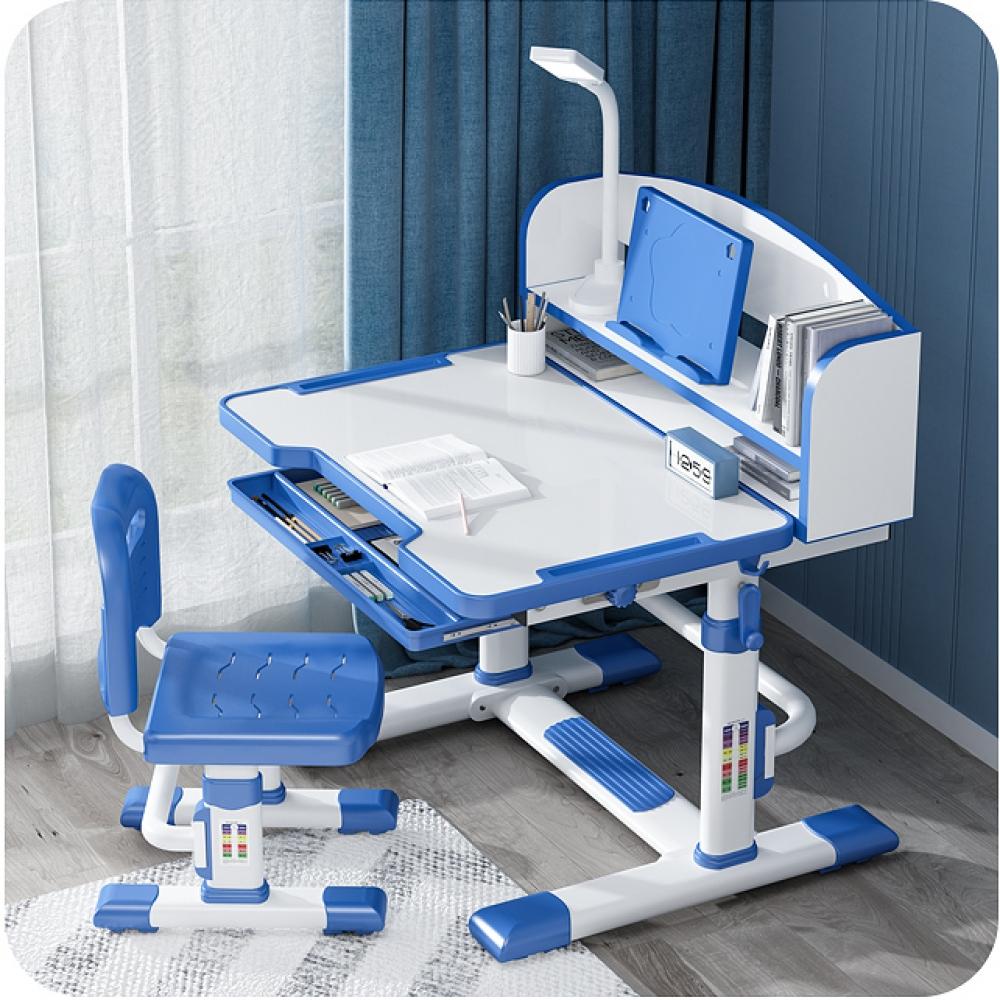 Комплект парта и стул с секретером LOTT MS80L-S голубой