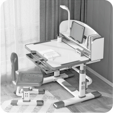 Ортопедическая парта для детей Кантор LOTT MS80L-S серый