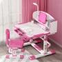 Комплект парта и стул с секретером LOTT MS80L-S розовый