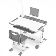 Ортопедическая парта для детей Кантор LOTT MS8L серый