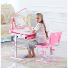 Стол для школьника трансформер Кантор LOTT MS80L розовый