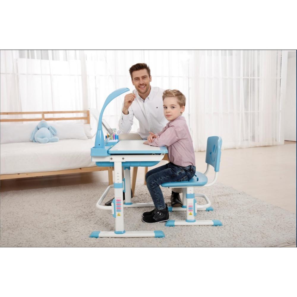 Комплект парта и стул голубой Кидди А8