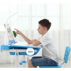 Ортопедическая парта для детей Кидди А8 голубая