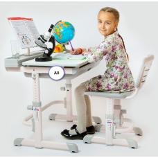 Ортопедическая парта для детей Кидди А8 серая