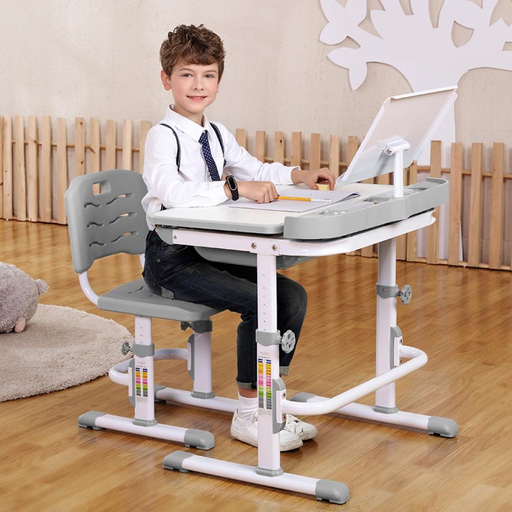 Комплект парта и стул серый Кидди А8