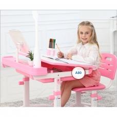 Ортопедическая парта для детей Кидди А8 розовая