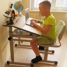 Растущий стол и стул для школьников Комфорт Классик Люкс