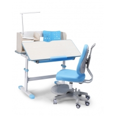Парта школьная регулируемая Lott A90  голубая