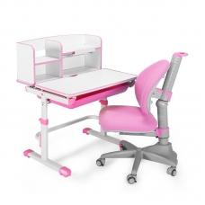 Парта школьная регулируемая Lott A90 розовая