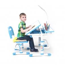Ортопедическая парта для школьника Rifforma Comfort-07 голубой