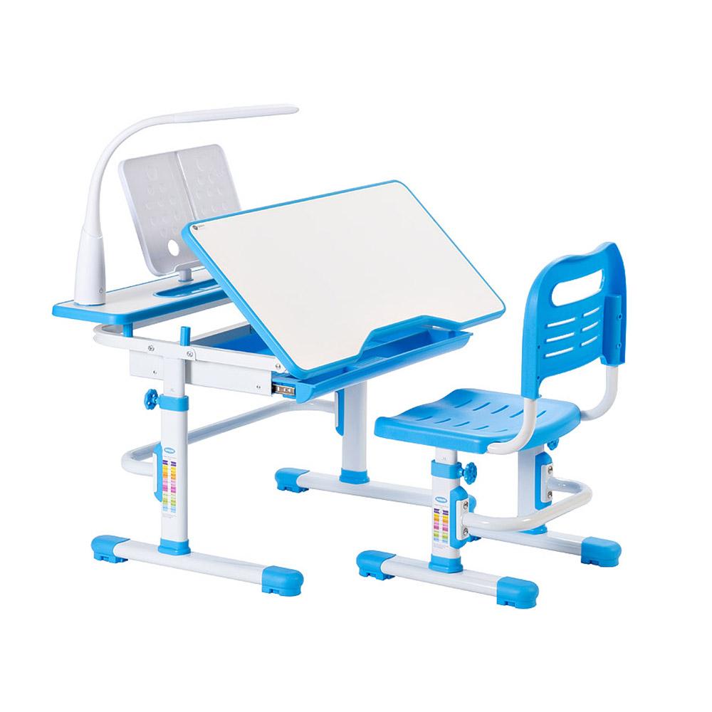 Комплект парта и стул голубой Rifforma Comfort-07