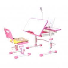 Парта школьная регулируемая Rifforma Comfort-07 розовый