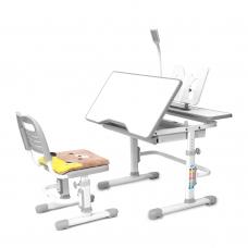 Ортопедическая парта для школьника Rifforma Comfort-07 серый