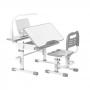 Комплект парта и стул серый Rifforma Comfort-07