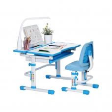 Ортопедическая парта для школьника RIFFORMA SET-07 LUX голубой